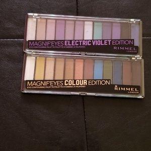 Nwt 2 rimmel colour edition palettes